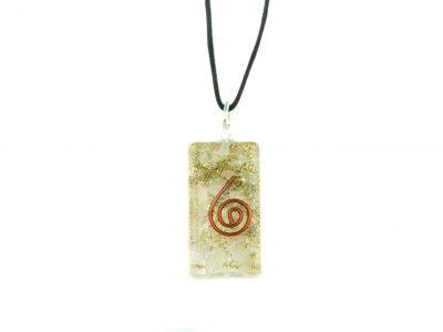 Orgonit Schutz Amulett - Bergkristall-813
