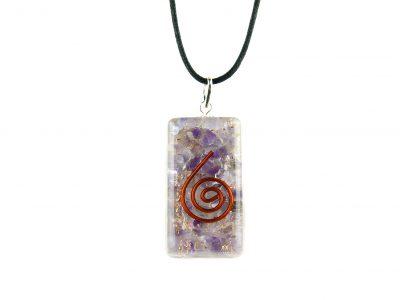 Orgonit Schutz Amulett - Anhänger Amethyst -0