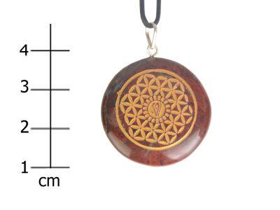 Heilsteinkette roter Jaspis (Erdung / Zellerneuerung)-0