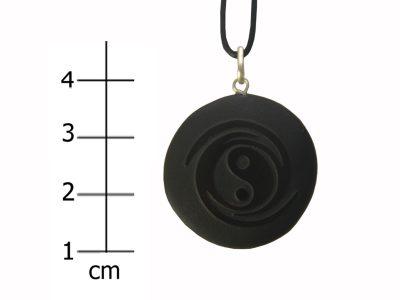 Heilsteinkette schwarzer Jaspis (Schutz)-0