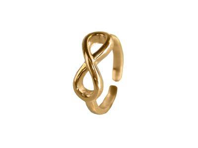 Ring One Size - Liegende Acht-0