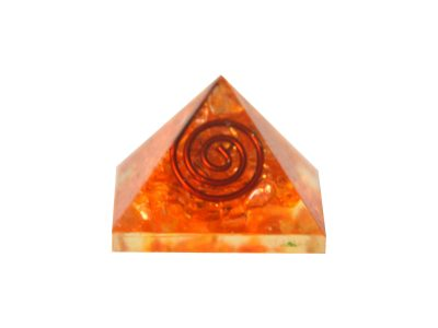 Mini - Orgonit Pyramide - orange Energie-0