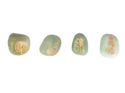 Reiki Steine set grüner Jade-0