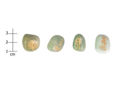 Reiki Steine set grüner Jade-1004