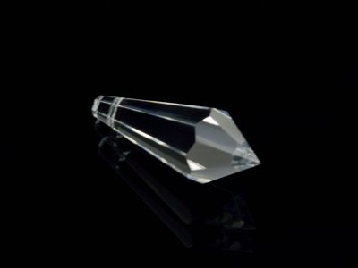 Kristall Glas Pendel 58 mm mit 20 cm langem Aufhängefaden-0